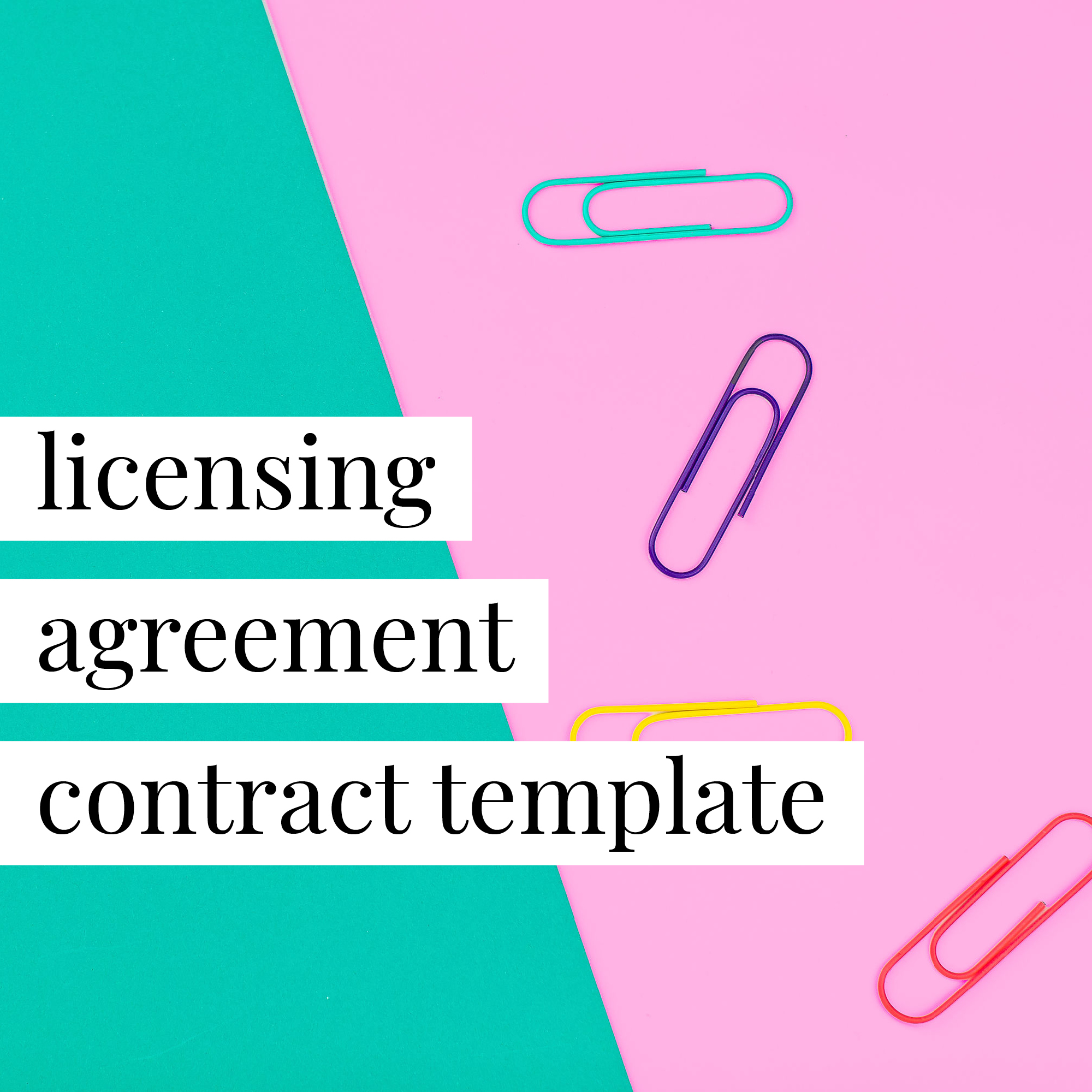 Merchandise And Artwork Licensing Agreement Contract