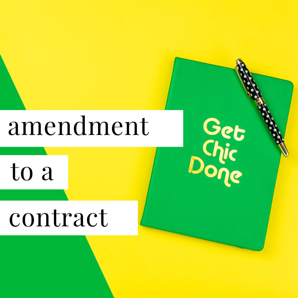 Amendement-to-a-Contract-Template